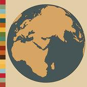 World Map Earth Globe Vector Illustrator, EPS 10. — Stock Vector