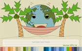 World Map Earth Globe Vector for Rest Concept, EPS 10. — Stock Vector