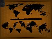 Dünya haritası ve küre vektör çizim, eps 10. — Stok Vektör