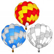 Stock Vector: Hot Air Balloon for Transportation Concept, Vector Illustration EPS 10.