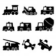 Transportation Icons Set, Vector Illustration EPS 10. — Stock Vector