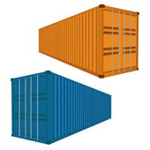 Freight Container, Vector Illustration EPS 10. — Stock Vector