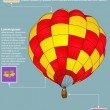 Infographic Diagram of Hot Air Balloon Vector Illustration EPS 10, For Business and Transportation Concept. — Stock Vector #32375661