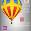 Infographic Diagram of Hot Air Balloon Vector Illustration EPS 10, For Business and Transportation Concept. — Stock Vector