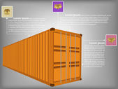 Infographic Diagram of Freight Container Vector Illustration EPS 10, For Business and Transportation Concept. — Stock Vector