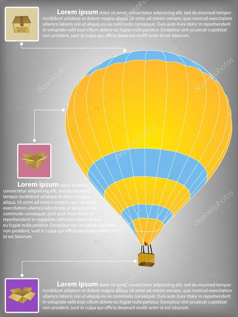 Hot Air Balloon Diagram Infographic Diagram of Hot Air