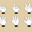 Doodle Hand Number 0, 1, 2, 3, 4, 5, Vector Illustration EPS 10. — Vettoriali Stock
