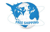 Air Craft Shipping Around the World — Stockvector