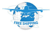 Air Craft Shipping Around the World — Stock Vector