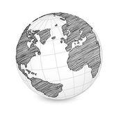 Mappa del mondo nel mondo — Vettoriale Stock