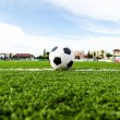 Stock Photo: Soccer Football on soccer field.