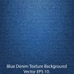 Blue Denim Texture Background, Vector EPS 10. — Stock Vector
