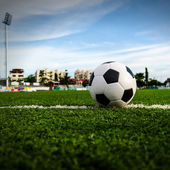Soccer Football on the soccer field. — Stock Photo