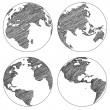 Globe Vector Line Sketched Up Illustrator, EPS 10. — Stock Vector #41556657