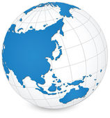World Map and Globe Detail Vector Illustration, EPS 10. — Wektor stockowy