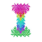 Colourful leaf alphabet character. — Stock Photo