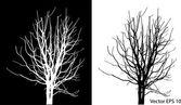 Hojas de árbol muerto sin ilustración vectorial bosquejado, eps 10. — Vector de stock