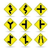 Doodle Traffic Signs — Vetorial Stock