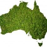Australia map symbol from grass. — Stock Photo #9640039