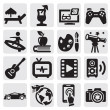 Royalty-Free Stock Vector Image: Entertainment icons