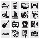 Iconos de entretenimiento — Vector de stock