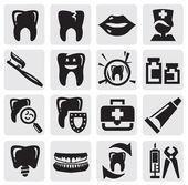Icona del dente — Vettoriale Stock