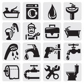 Bathroom icons — Stok Vektör