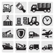 Logistic and shipping icon set — Vector de stock