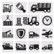 Logistic and shipping icon set — Cтоковый вектор #12483118
