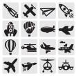Airplane icon — Stock Vector #12483120