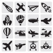 Stock Vector: Airplane icon