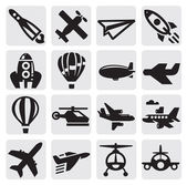 Airplane icon — Stok Vektör