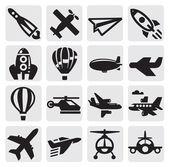 Uçak simgesi — Stok Vektör
