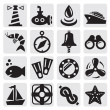 Nautical icons — Stock Vector #12560147