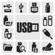 Stock Vector: Usb set