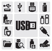 Usb set — Stock Vector