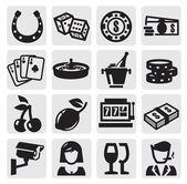 Casino icons — Stockvector