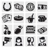 Iconos de casino — Vector de stock