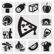 Pizza icons — Stock Vector #12630388