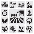 Stock Vector: Nature icons