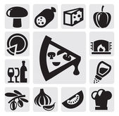 Pizza icons — Stock Vector