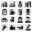 Stock Vector: Office and business icons