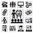 Office and business icons — Stock Vector #12652092
