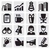 Kantoor en zakelijke pictogrammen — Stockvector