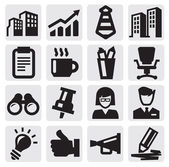 Office and business icons — Stok Vektör