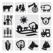 Farm icon — Vector de stock #12672835