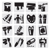 Art icons set — Stock Vector