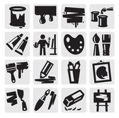 Conjunto de iconos de arte — Vector de stock