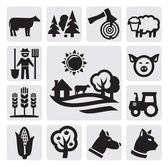 Boerderij pictogram — Stockvector