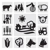 Icona di fattoria — Vettoriale Stock